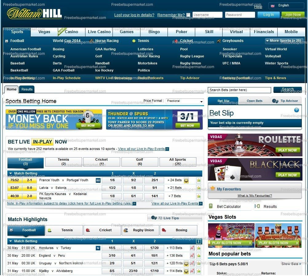 William Hill paris sportifs